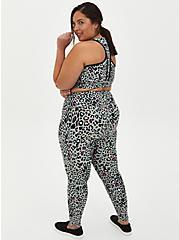 Black Leopard Wicking Active Legging , LEOPARD-BLACK, alternate