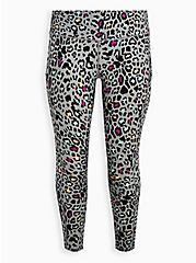 Black Leopard Wicking Active Legging , LEOPARD-BLACK, hi-res