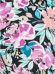 Pink & Purple Floral Wicking Active Sports Bra , FLORALS-LAVENDER, alternate