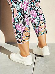 Pink & Purple Floral Wicking Active Legging, FLORALS-LAVENDER, alternate