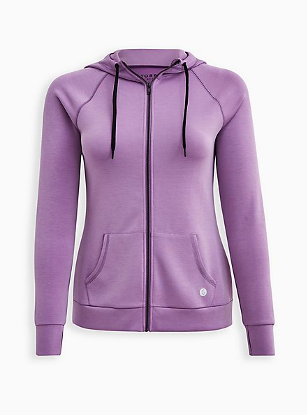 Cupro Purple Wash Active Zip, LAVENDER FROST, hi-res