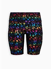 Active Bike Short - Wicking Skull Foil Black with Pockets, SKULL - BLACK, hi-res