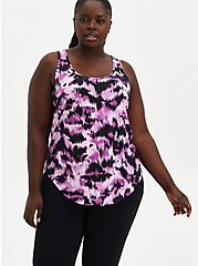 Purple & Black Wicking Active Tank, OTHER PRINTS, hi-res
