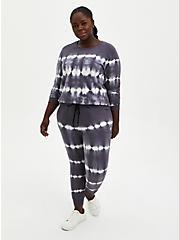 Grey & White Tie-Dye Active Sweatshirt , TIE DYE, alternate