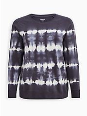 Grey & White Tie-Dye Active Sweatshirt , TIE DYE, hi-res