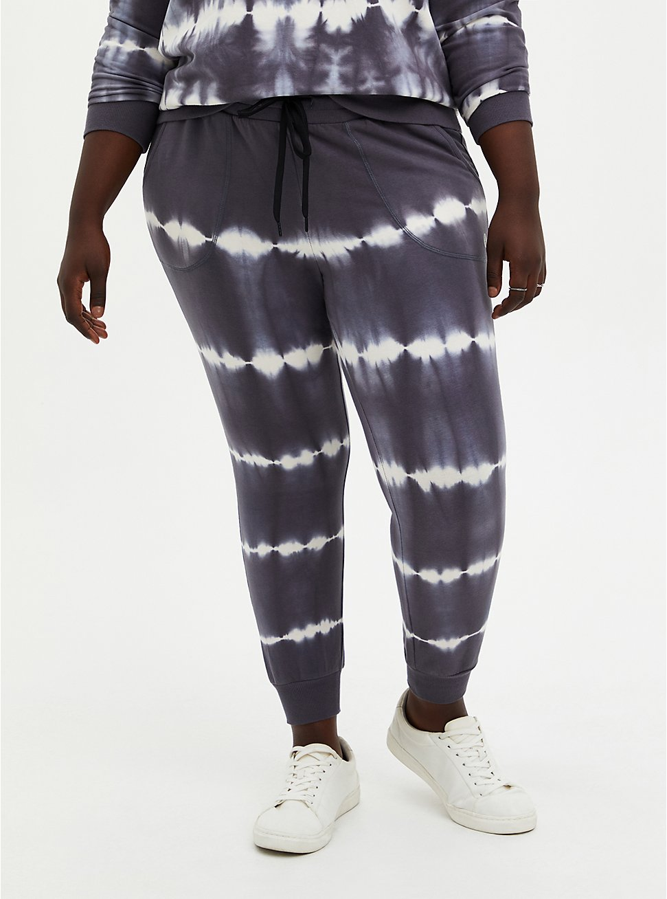 Classic Fit Jogger - Terry Grey & White, TIE DYE, hi-res