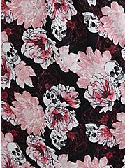 Black & Pink Skull Floral Hanky Hem Sleep Dress, MULTI, alternate