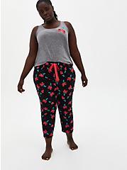 Black Cherry Crop Sleep Pant , MULTI, alternate