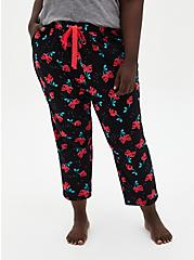 Black Cherry Crop Sleep Pant , MULTI, hi-res