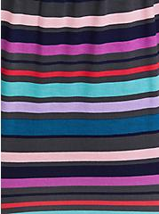 Super Soft Blue & Purple Stripe Sleep Romper , MULTI, alternate