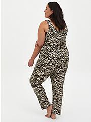 Leopard Micro Modal Sleep Jumpsuit , MULTI, alternate