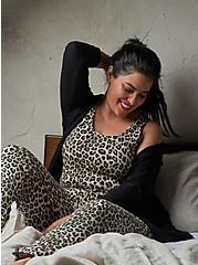 Leopard Micro Modal Sleep Jumpsuit , MULTI, hi-res