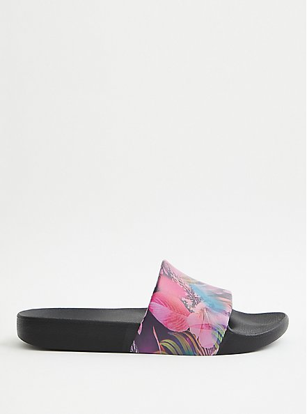 Floral Print Rubber Pool Slide (WW), FLORAL, alternate