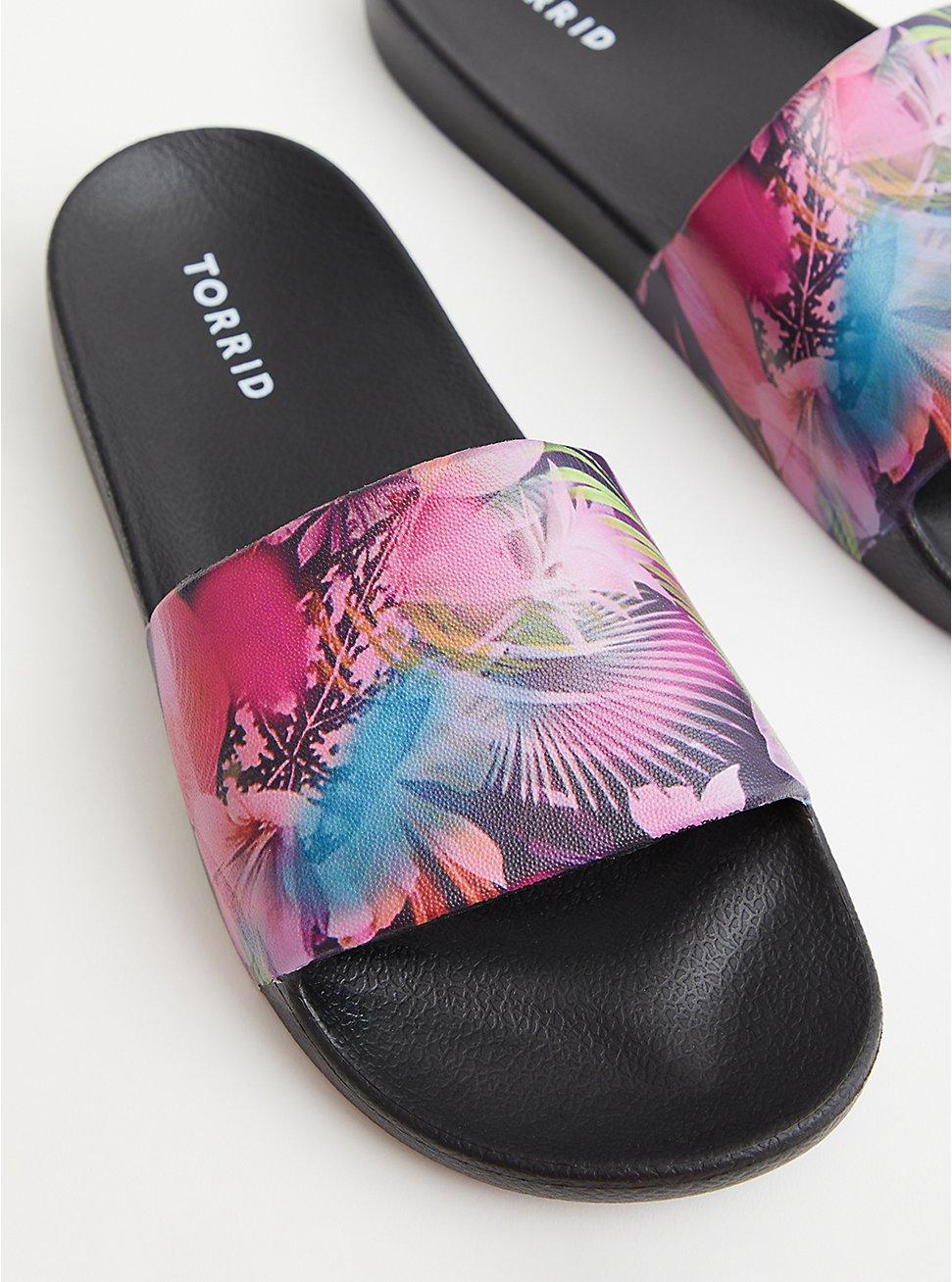 Floral Print Rubber Pool Slide (WW), FLORAL, hi-res