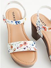 Floral Faux Leather Platform Heel (WW), FLORAL, alternate