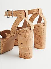 Natural Cork Platform Heel (WW), NATURAL, alternate