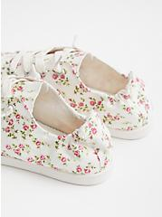 Riley - White Floral Canvas Sneaker (WW), FLORAL, alternate