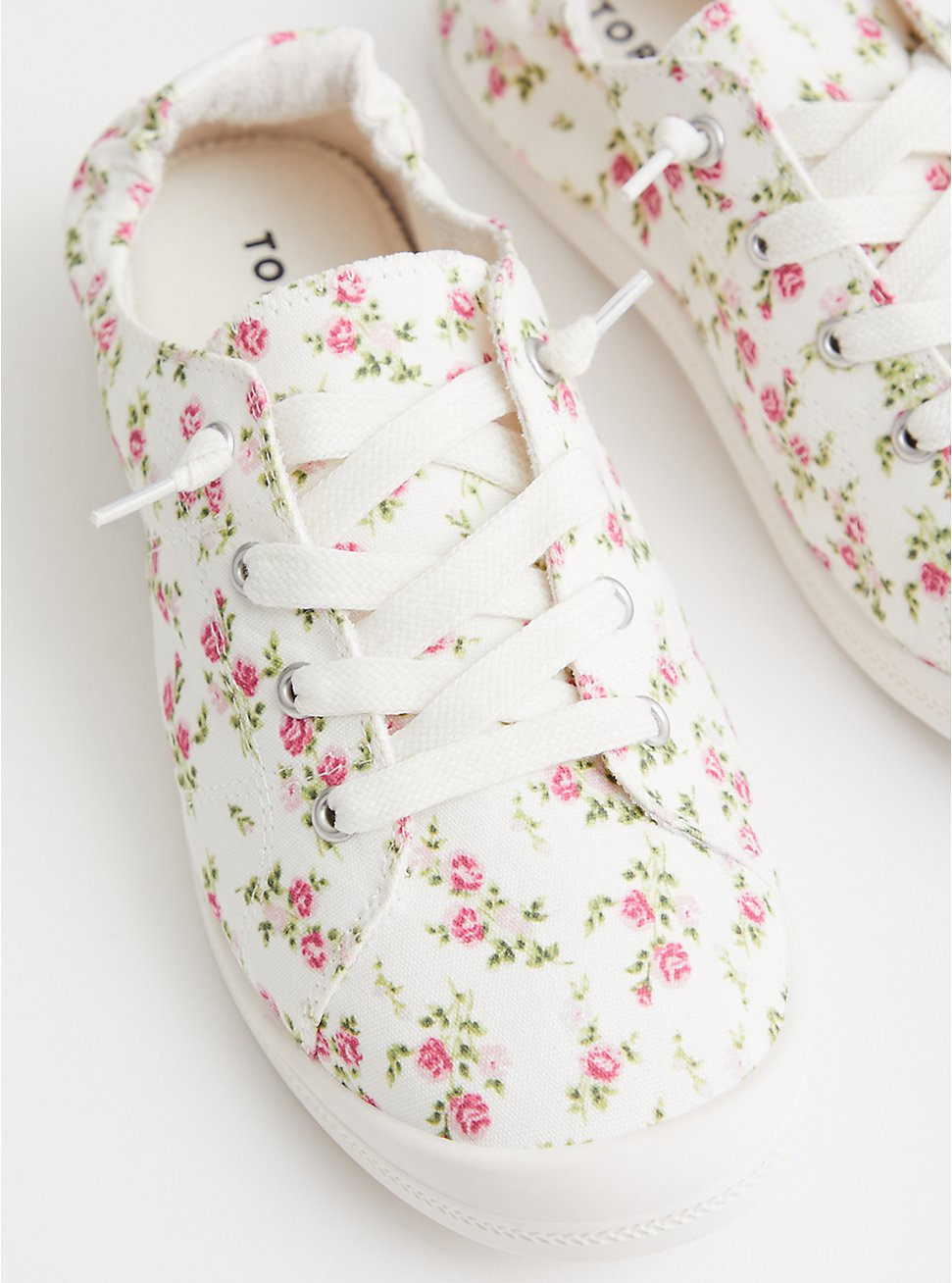 Riley - White Floral Canvas Sneaker (WW), FLORAL, hi-res