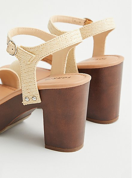Natural Jute Strap Platform Heel (WW), NATURAL, alternate