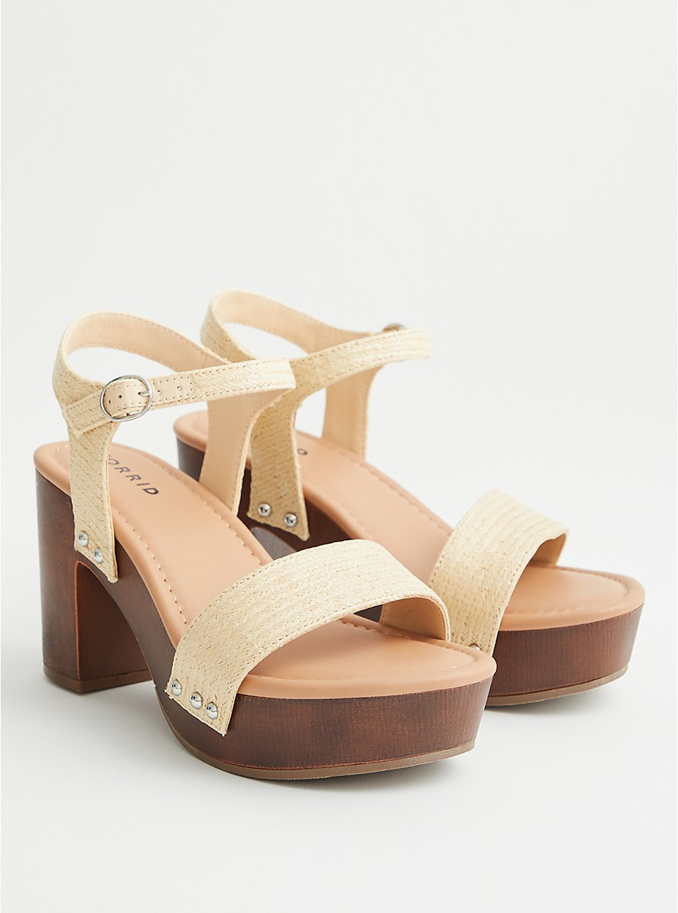 Natural Jute Strap Platform Heel (WW), NATURAL, hi-res