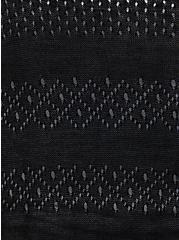 Black Stripe Dolman Duster Shirt, DEEP BLACK, alternate