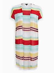 Multicolored Stripe Dolman Duster Sweater, STRIPE - MULTICOLOR, hi-res