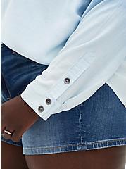 Chambray Dip-Dye Button-Up Shirt , CHAMBRAY, alternate