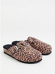 Leopard Faux Suede & Faux Fur-Lined Flat (WW), ANIMAL, alternate