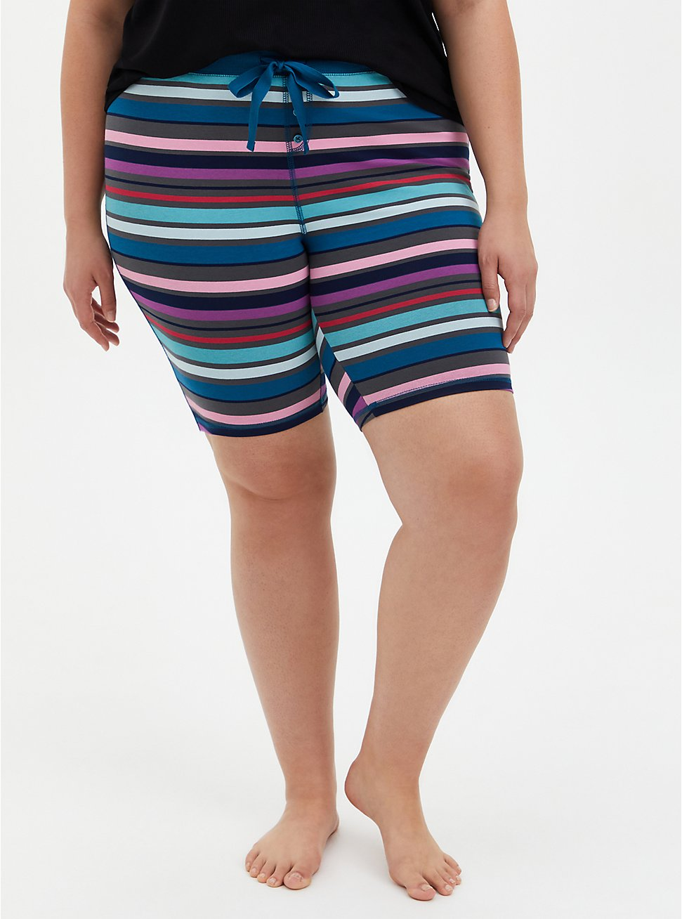 Blue & Purple Stripe Foxy Sleep Short , MULTI, hi-res