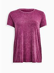 Plus Size Super Soft Purple Wash Relaxed Sleep Tee  , MULTI, hi-res