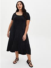 Black Wash Wings Super Soft Hi-Lo Maxi Dress, MINERAL BLACK, alternate