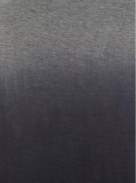 Plus Size Black Ombre Side Slit Super Soft Maxi Dress, BLACK OMBRE, alternate