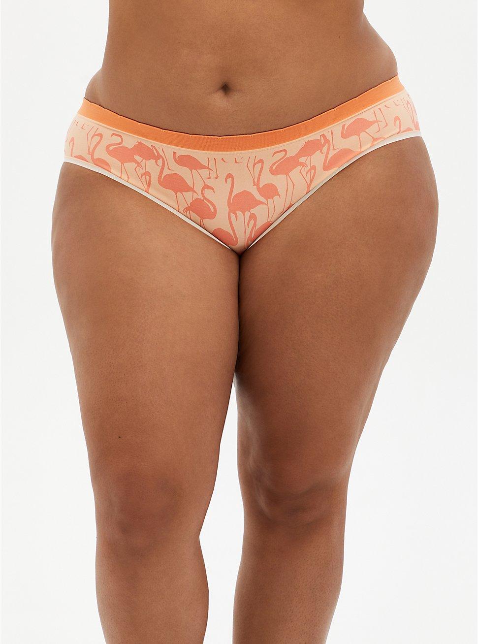 Seamless Hipster Panty - Flamingo Coral, Flamingo Party- CORAL, hi-res
