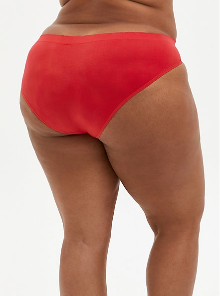 Celebrate Love Seamless Hipster Panty - Rainbow Lips Red, Love All- RED, alternate