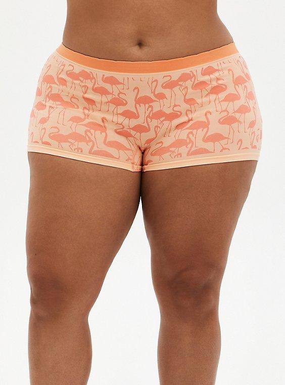 Seamless Boyshort Panty - Flamingo Coral, , hi-res