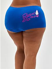 Seamless Boyshort Panty - Blue Sweet + Sassy, Sweet and Sassy- BLUE, hi-res