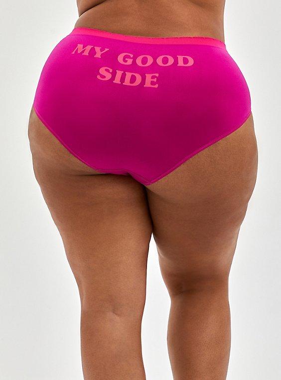 Seamless Brief Panty - My Good Side Pink, My Good Side- PURPLE, hi-res
