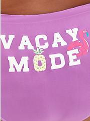 Seamless Brief Panty - Vacay Mode Purple, Vacay Mode- PURPLE, alternate