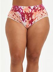 Seamless Brief Panty - Tie Dye Pink + Orange , Tie Dye Motif, hi-res