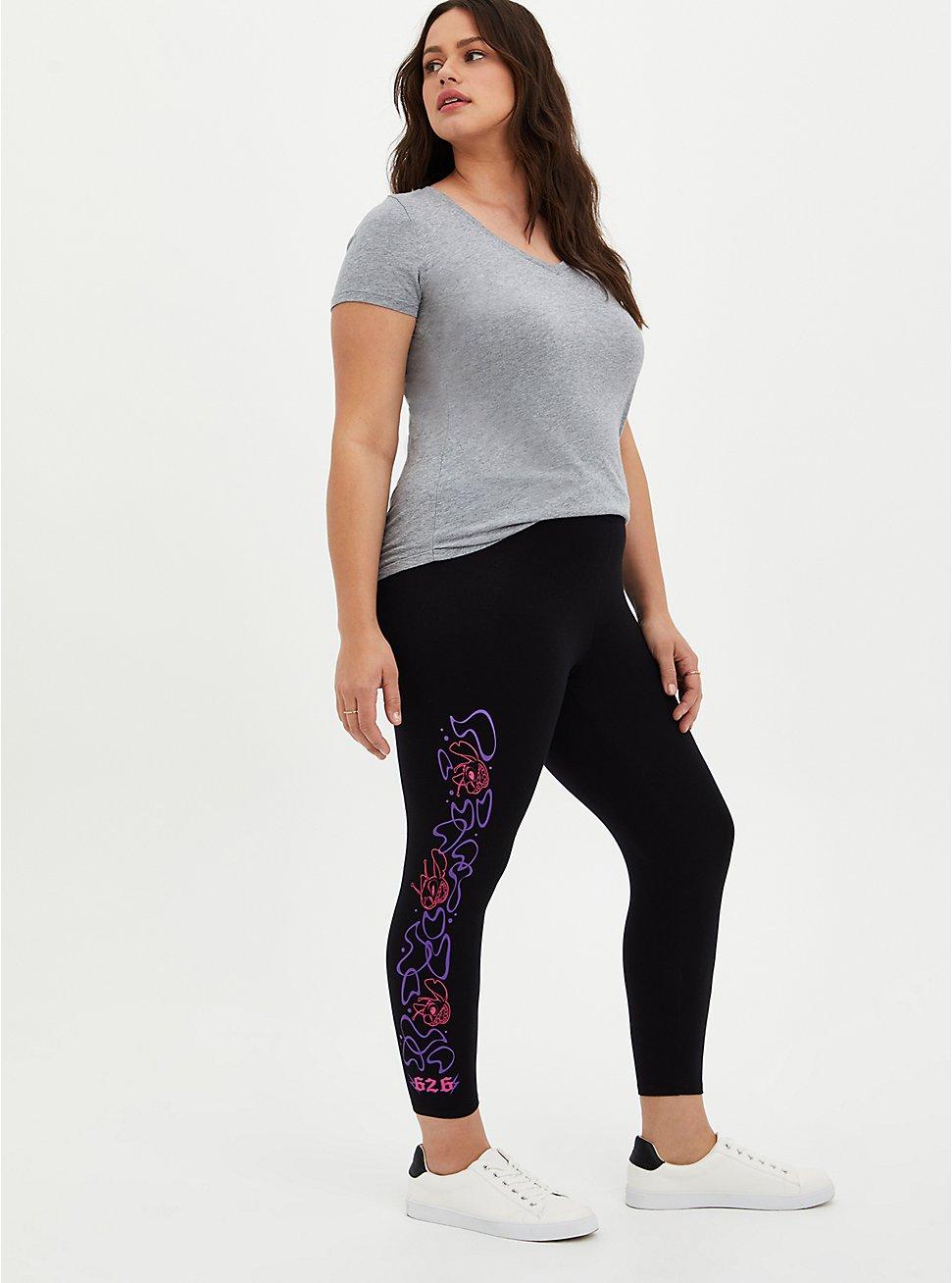 Disney Lilo & Stitch Crop Legging, DEEP BLACK, hi-res
