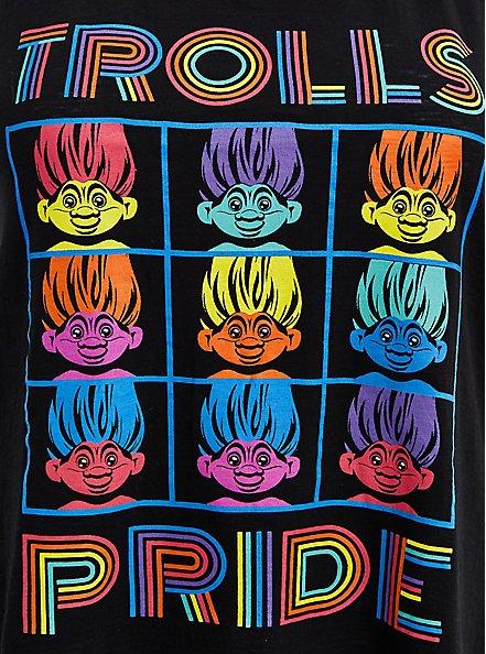 Trolls Rainbow Sleep Tank - Pride Black, DEEP BLACK, alternate