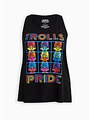 Trolls Rainbow Sleep Tank - Pride Black, DEEP BLACK, hi-res
