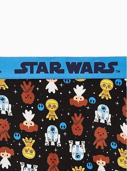 Cotton Boyshort Panty - Star Wars Emoji Black, MULTI, alternate