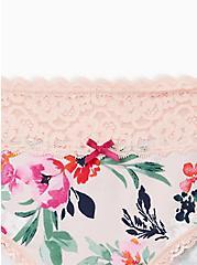Wide Lace Cotton Hipster Panty - Floral Pink, TASHA FLORAL PINK, alternate