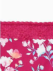 Floral Wide Lace Cotton Brief Panty, WATERCOLOR FLORAL, alternate