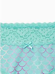 Mermaid Wide Lace Cotton Cheeky Panty, Peach Mermaid- BLUE, alternate