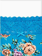 Sky Blue Floral Wide Lace Cotton Hipster Panty, Sky Floral - BLUE, alternate