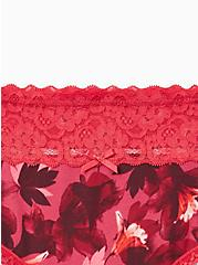 Wide Lace Trim Hipster Panty - Cotton Blooms Red, DRAMATIC BLOOMS RED, alternate