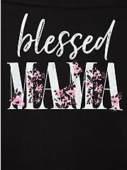 Blessed Mama Black Football Tee, DEEP BLACK, alternate