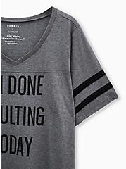 Football Tee - Done Adulting Heather Grey, MEDIUM HEATHER GREY, alternate